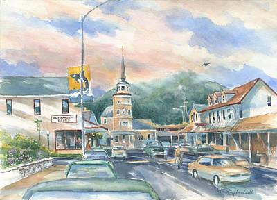 Streets Of Sitka Print by Kerry Kupferschmidt