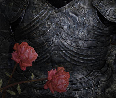Installation Art Painting - Strength Of A Rose by Jack Zulli