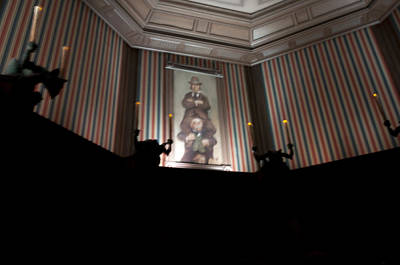 Haunted Mansion Photograph - Stretched by Ryan Crane