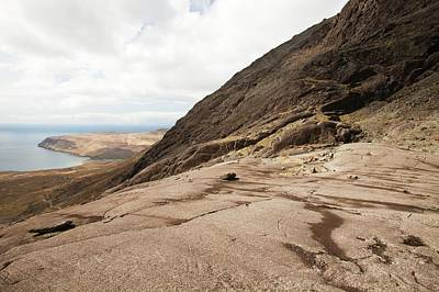 Glen Brittle Photograph - Striations Caused By Glaciers by Ashley Cooper