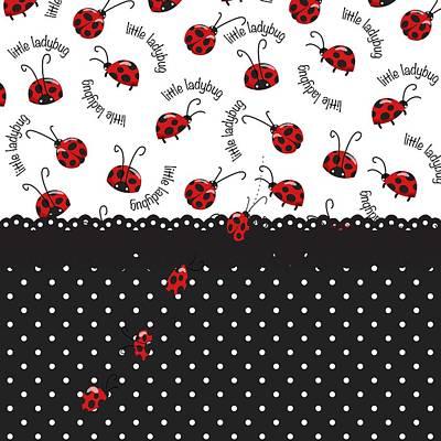 Ladybug Digital Art - String Of Ladybugs by Debra  Miller