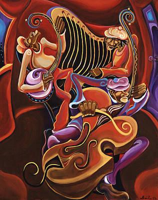 Good Times Painting - Stringin' by Sharika  Mahdi