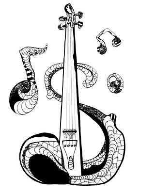 Strings Print by Kenal Louis