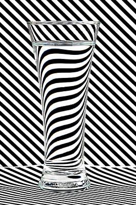 Op Art Photograph - Striped Water by Steve Purnell