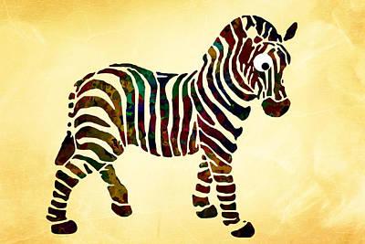 Digital Art - Striped Zebra by Christina Rollo