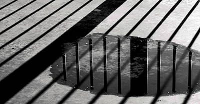Winter Photograph - Stripes And Reflections 1 by Arkady Kunysz
