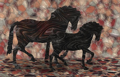 Merging Digital Art - Strollin' 2 by Jack Zulli