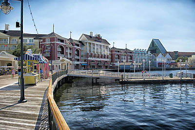 Walt Disney World Photograph - Strolling On The Boardwalk At Disney World by Thomas Woolworth