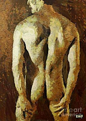 Wall Painting - Strong Body by Dragica  Micki Fortuna