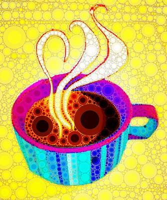 Strong Coffee Print by Cindy Edwards
