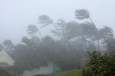 Strong Winds During Hurricane Irene Print by Science Photo Library