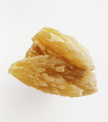 Strontium Photograph - Strontianite Mineral by Dorling Kindersley/uig