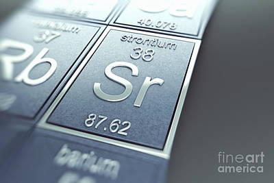 Strontium Photograph - Strontium Chemical Element by Science Picture Co