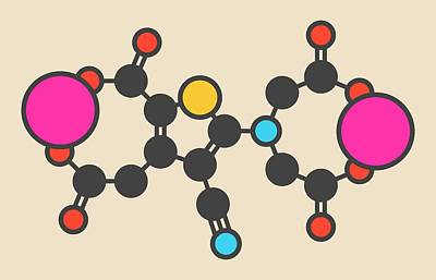 Strontium Photograph - Strontium Ranelate Molecule by Molekuul