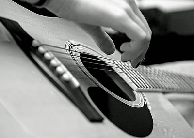 Hand Photograph - Strum by Lisa Phillips