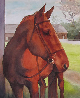 Copper Color Painting - Strutter by Sarah Buell  Dowling