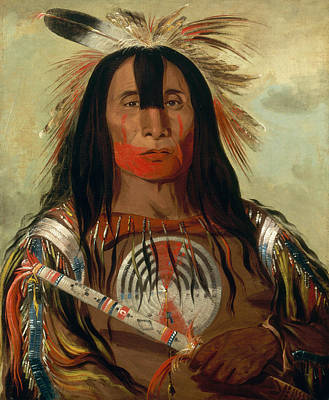 George Catlin Painting - Stu-mick-o-sucks. Buffalo Bull's Back Fat. Head Chief. Blood Tribe by George Catlin