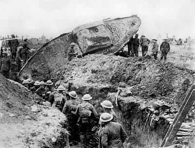 Stuck Tank Print by Underwood Archives