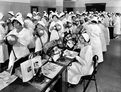 Dental Photograph - Students At A Dental School by Underwood Archives