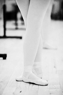 Students With Feet In The Third Position At A Ballet School In The Uk Print by Joe Fox