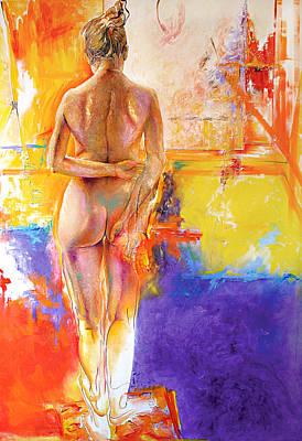 Karina Painting - Studio by Karina Llergo