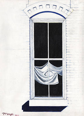 Las Cruces Painting - Studio Window by Illusions Maya