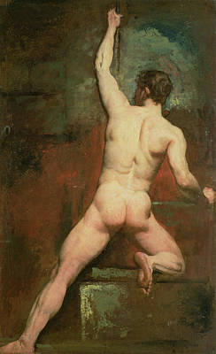 Homo-erotic Painting - Study For A Male Nude by William Etty