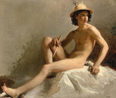 Isidore Pils Painting - Study For Mercury. Palais Garnier. Paris by Isidore Pils