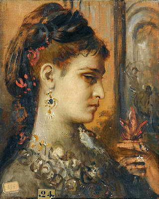 Beheading Painting - Study For Salome With Beheading Of John The Baptist by Gustave Moreau