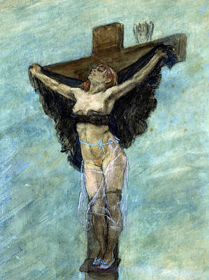 Masochism Painting - Study For The Temptation Of St Anthony by Felicien Rops