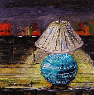 Oil Lamp Drawing - Study Lamp by John  Williams