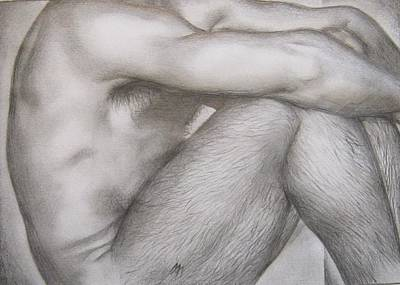 Homoerotic Drawing - Study by Michael Flynt