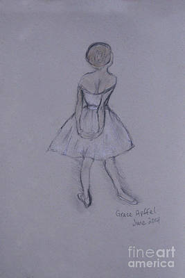Drawing - Study Of Degas Ballet Dancer by Jennifer Apffel