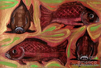 Study Of Fish Print by Anna Folkartanna Maciejewska-Dyba