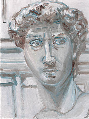 Michaelangelos David Painting - Study Of Michaelangelo's David by Jeffrey Oleniacz