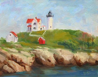 Cape Neddick Lighthouse Painting - Study Of Nubble Light by Jason Walcott