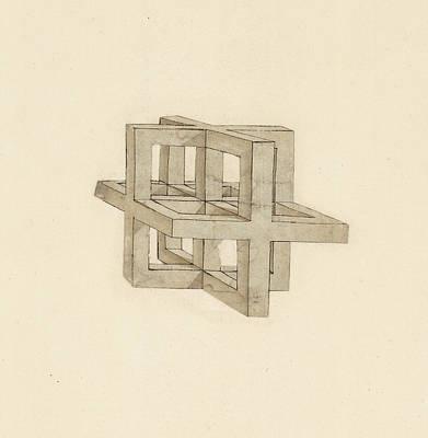 Antiquity Drawing - Study Of Perspective  by Leonardo Da Vinci