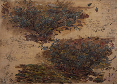 Nature Study Painting - Study Of Trees by Henri Duhem