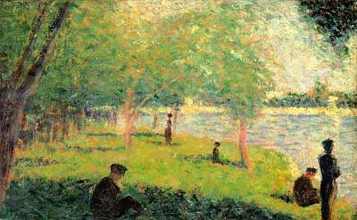 Study On La Grande Jatte Print by Georges Seurat
