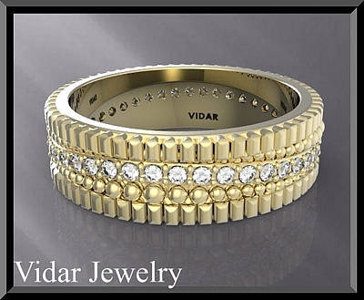 Vidar Jewelry Jewelry - Stunning 14k Yellow Gold Unisex Wedding Ring by Roi Avidar