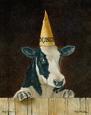 Stupid Cow... Print by Will Bullas