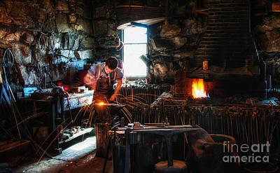 Blacksmith Photograph - Sturbridge Village Blacksmith by Scott Thorp