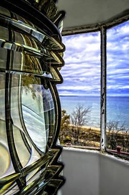 Red Photograph - Sturgeon Point Lighthouse by LeeAnn McLaneGoetz McLaneGoetzStudioLLCcom