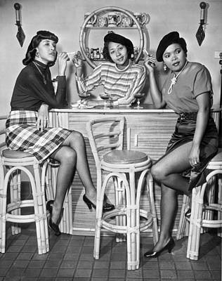 African-american Photograph - Stylish African American Women by Underwood Archives