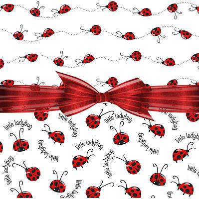 Ladybug Digital Art - Stylish Ladybugs by Debra  Miller