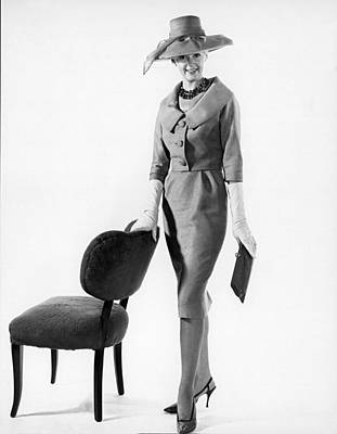 Fashion Model Photograph - Stylish Woman by Underwood Archives