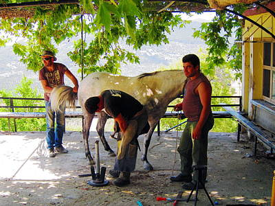 Greece Photograph - Stypsi Horsemen 1 by Andreas Thust