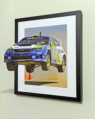 Subaru Frame Break Out  Print by Russell Mcconkey