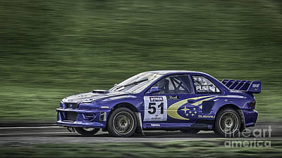 Subaru Imprezza Print by Nigel Jones