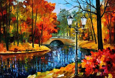 Sublime Park - Palette Knife Oil Painting On Canvas By Leonid Afremov Original by Leonid Afremov